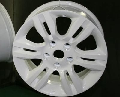 Tire rims - durable powder coating
