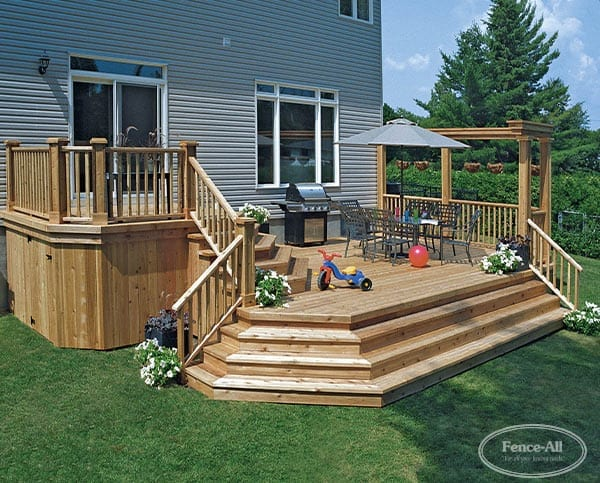 Pictures Of Sundecks Stairs And Benches: Cedar Sun Deck