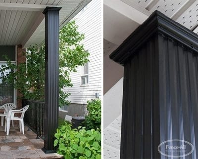 Square Fluted Aluminum Porch Posts (or Wrap)