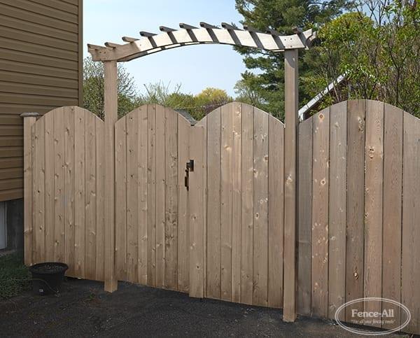 princeton double gates w/newport cedar arbour