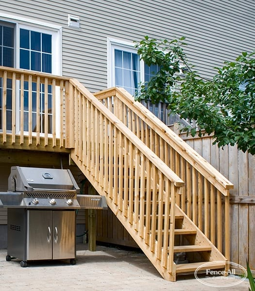 postless wood railing