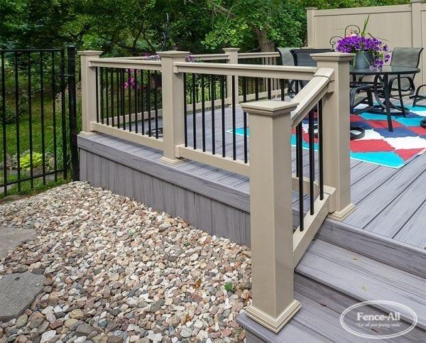 vinyl railing w/aluminum pickets