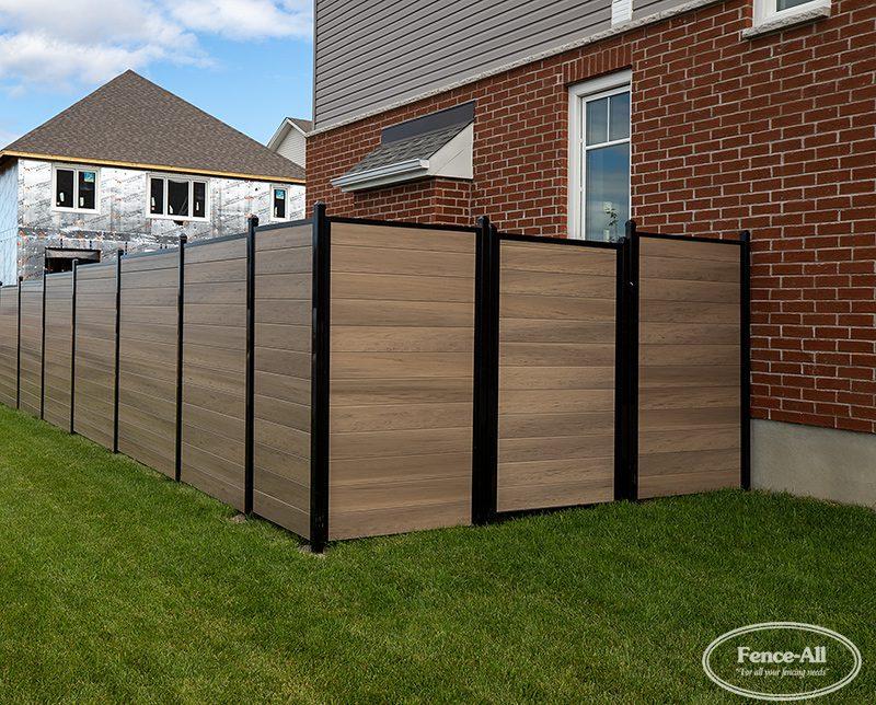 vinyl garden wall gate in green teak